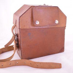 Brun läderväska